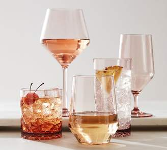 Pottery Barn Happy Hour Acrylic Wine Glasses - Blush