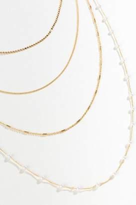 francesca's Sloane Multi-Strand Pearl Necklace - Pearl