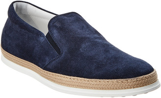 Tod's Gommino Suede Loafer Blue Sneaker
