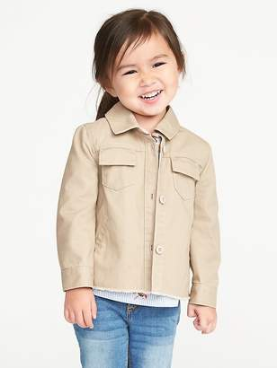 Old Navy Raw-Hem Shirt-Jacket for Toddler Girls