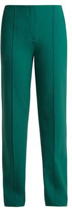 Diane von Furstenberg Stretch Wool Trousers - Womens - Green