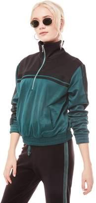 Juicy Couture Stripe Tricot Half Zip Track Jacket