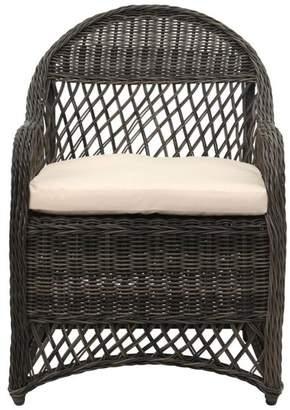 Safavieh Davies Wicker Arm Chair, Gray