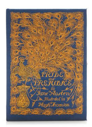 Olympia Le-Tan Pride And Prejudice Appliquéd Embroidered Canvas Clutch