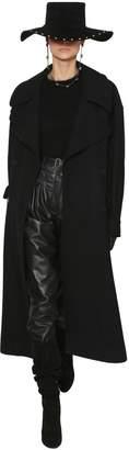 Alberta Ferretti Oversized Wool Blend Felt Coat