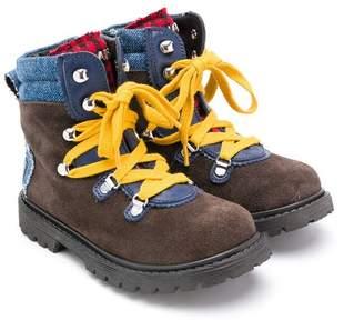 DSQUARED2 colour block boots