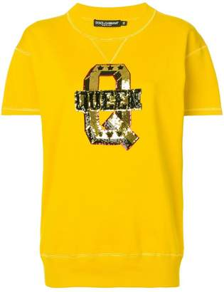 Dolce & Gabbana sequin embroidery T-shirt