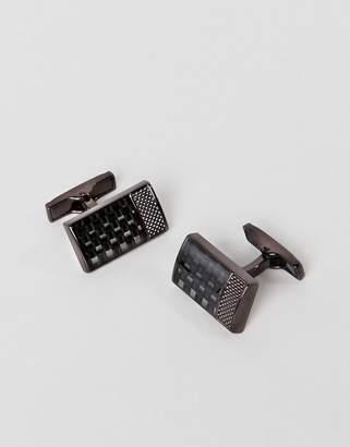 Ted Baker bodgard cufflinks in brown