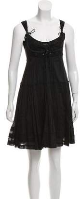 Philosophy di Alberta Ferretti Pleated A-Line Dress
