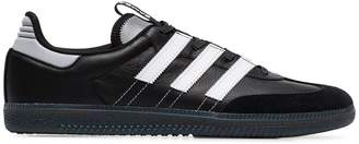 adidas black and white Samba leather and suede low-top sneakers