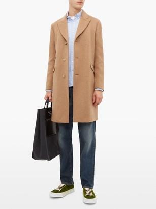 Holiday Boileau Windsor Virgin Wool Blend Twill Overcoat - Mens - Camel