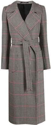 Tagliatore tie-waist mid-length coat