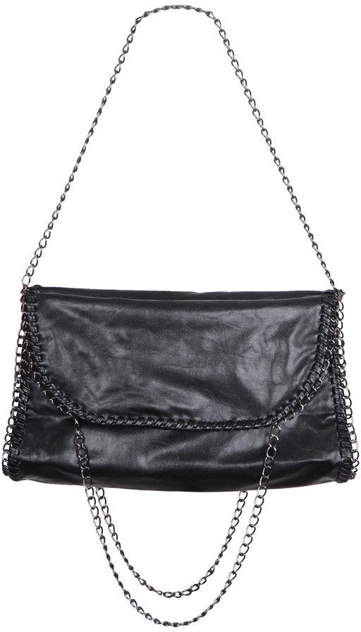 Chain Leatherette Handbag