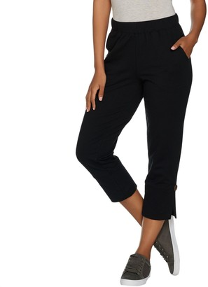 Denim & Co. Crop Pants with Side Vent Detail with Pockets