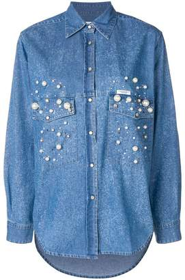 Couture Forte Dei Marmi Dyna embellished denim shirt