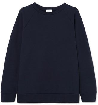 Handvaerk - Raglan Cotton-terry Sweatshirt - Navy
