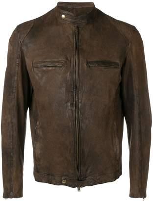 Salvatore Santoro distressed leather jacket