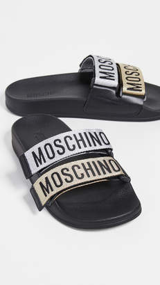 Moschino Two Band Slide Sandals