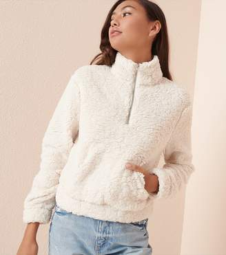 Garage Sherpa Mock Neck Pullover