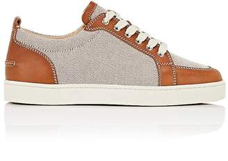 Christian Louboutin Men's Rantulow Flat Canvas & Leather Sneakers
