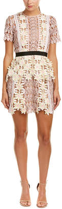 Self-Portrait Self Portrait 3D Floral Peplum Dress