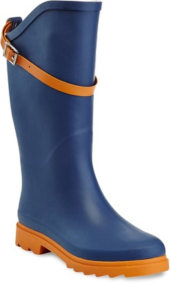 NuFace Henry Ferrera Women's Water-Resistant Two-Tone Rain Boots