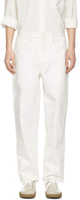 Lemaire White Summer Chino Trousers