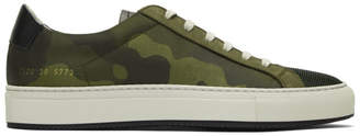 Common Projects Green Camo Achilles Low Sneakers
