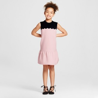 Victoria Beckham for Target Girls' Blush Drop Waist Scallop Trim Dress $28 thestylecure.com