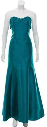 Lela Rose Strapless Evening Gown