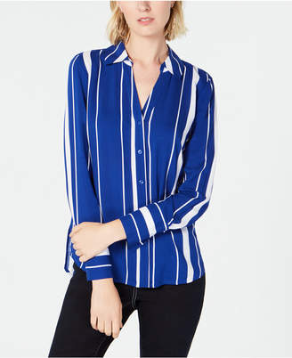 INC International Concepts I.N.C. Striped Button-Front Shirt, Created for Macy's