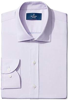 Buttoned Down Men's Slim Fit Spread Collar Solid Non-Iron Dress Shirt