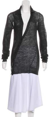 Ann Demeulemeester Asymmetrical Wool Cardigan