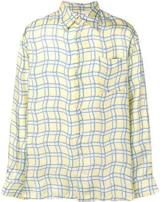 Marni wavy check shirt