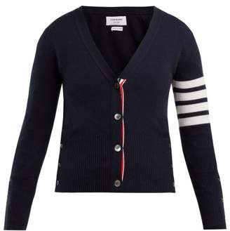 Thom Browne V Neck Cashmere Cardigan - Womens - Navy Multi