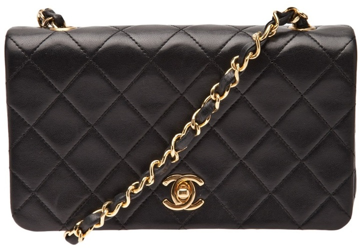Chanel quilted full flap bag