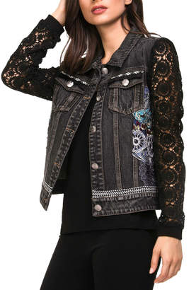 Adore Crochet Denim Jacket