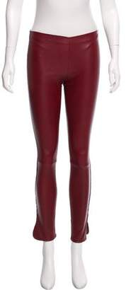 The Row Low-Rise Leather Pants