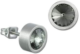 Swarovski Amello Women's Round Earrings Stainless Steel with Elements Grey VESOS03K