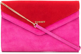 Twin-Set contrast clutch bag