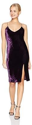 Obey Junior's Blume Midi-Length Velvet Dress
