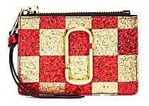 Marc Jacobs Women's Glitter Checkerboard Coin Purse