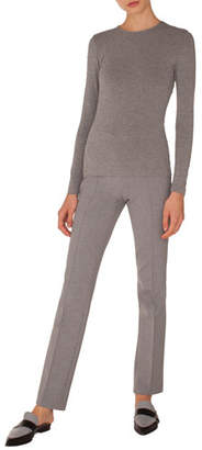 Akris Punto Francoise Straight-Leg Side-Zip Pants