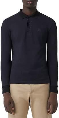 Burberry Hartford Long-Sleeve Pique Polo Shirt