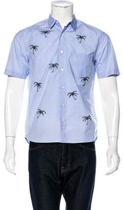Jimi Roos Palm Tree Embroidered Short Sleeve Shirt