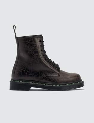 Dr. Martens Core Applique 1460 Black Skull Web Smooth Boots