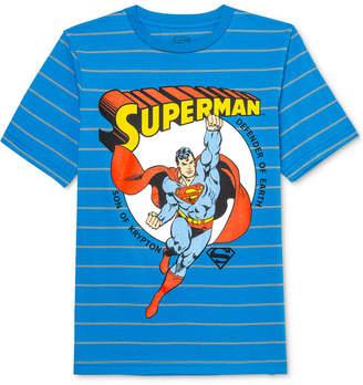 Dc Comics Big Boys Superman Son Of Krypton Stripe T-Shirt