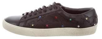 Saint Laurent Star Studded High-Top Sneakers