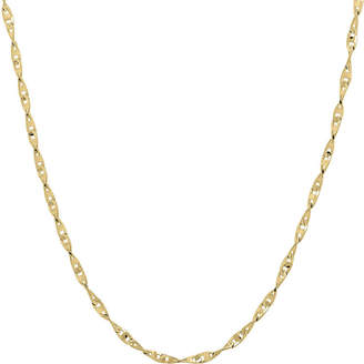 JCPenney FINE JEWELRY Infinite Gold 14K Yellow Gold 18 Flat Twisted Link Chain Necklace