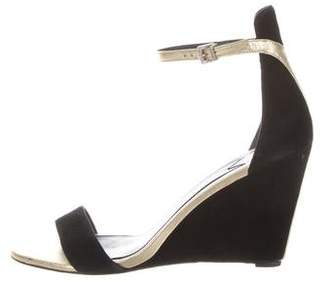 Brian Atwood Suede Wedge Sandals